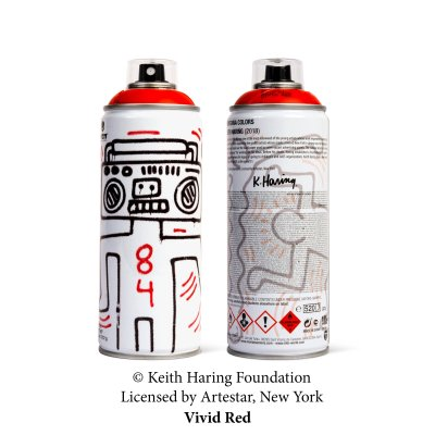 Keith Haring Special Edition Artist Series Can – Vivid Red