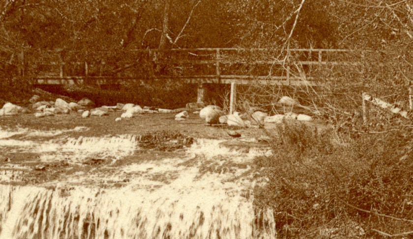 An early bridge across the creek, probably built by the Park Board.