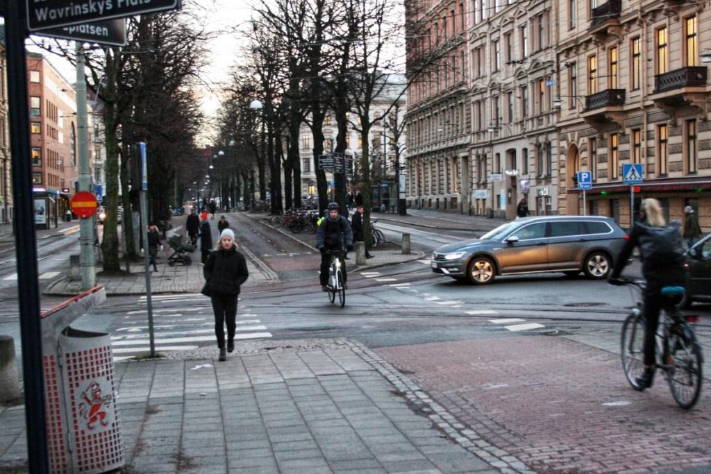 Cykelpassage på Vasagatan