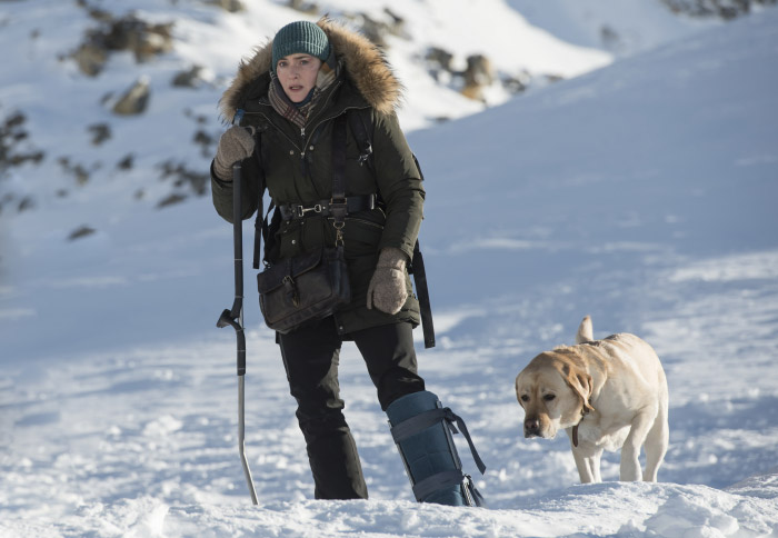 Kate Winslet and Canine Co-Star