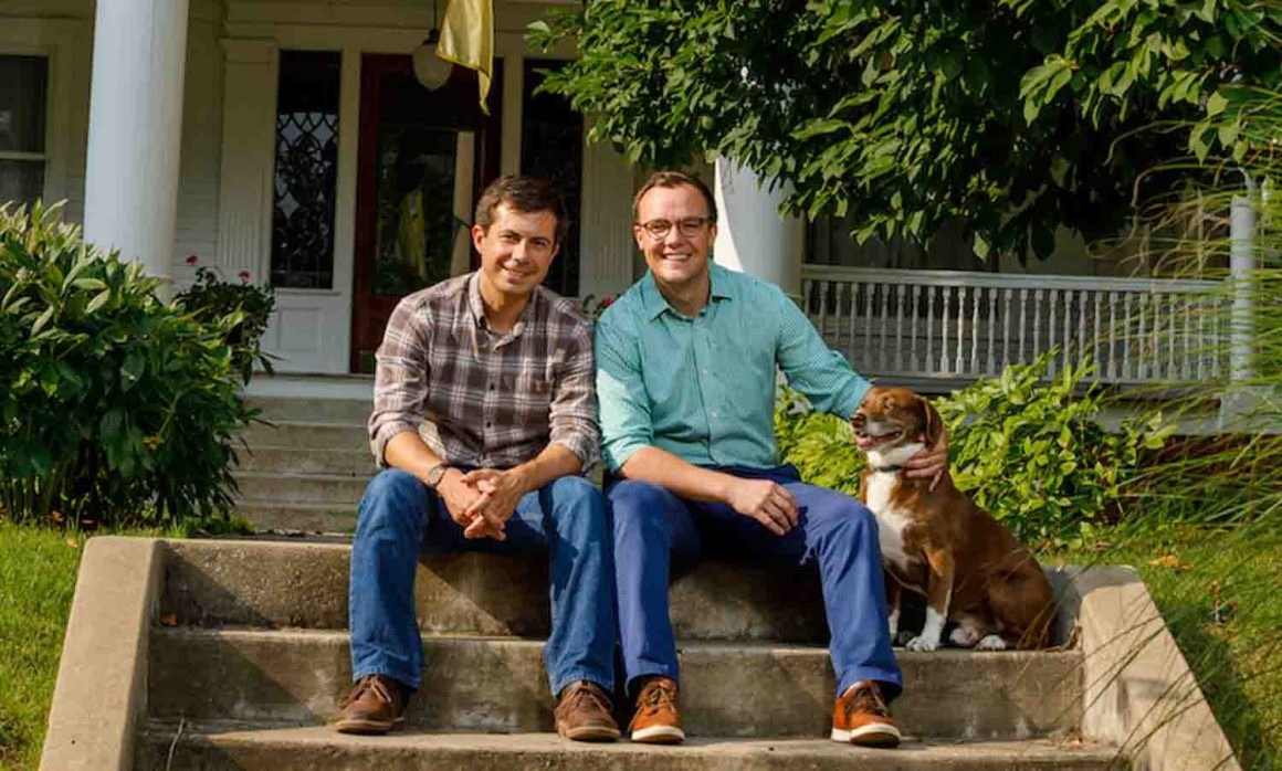 Mayor Pete and Chasten and Truman Dogs in the News