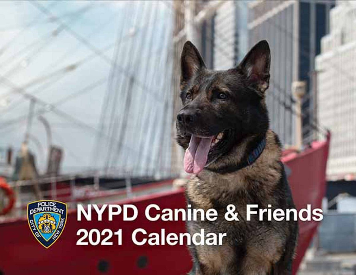 NYPD 2021 Calendar... with Dogs!