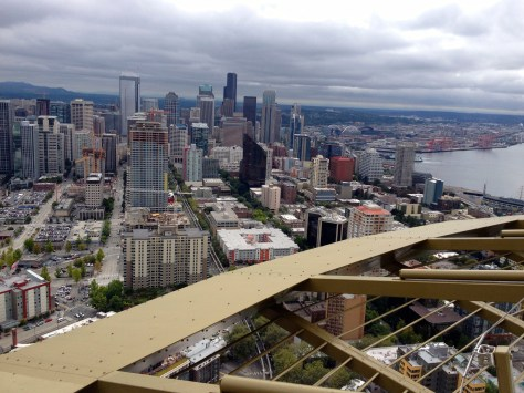 View from top of Space Needle