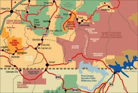 kanab-area-map