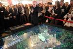 Le président du Grand Lyon, Gérard Collomb, a présenté le projet, hier, au Mipim à Cannes