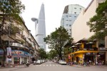 Financial Tower à Ho chi Minh (Vietnam) - La tour dans le prolongement de Ngo Duc Ke Street (nov. 2010) AREP / Photographe : T. Chapuis Architectes : JM. Duthilleul, E. Tricaud