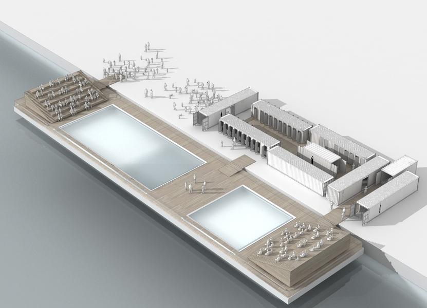 Une Piscine Flottante sur la Garonne ? - 2PM Architecture