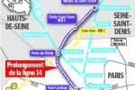 Ce prolongement permettra de mettre la ligne 14 en correspondance avec les deux branches de la ligne 13, à la station Porte-de-Clichy (branche Asnières-Gennevilliers) comme à la station Mairie-de-Saint-Ouen (branche Saint-Denis-Université)