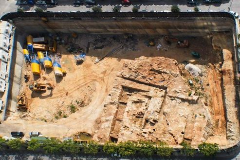 Le port phénicien de Beyrouth avant sa destruction mardi. Le site était vieux de 3000 ans.