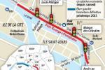 L'ex-voie rapide Georges-Pompidou, sur la rive droite de la Seine, a été réaménagée pour donner plus d'espace aux piétons et réduire la circulation des voitures.