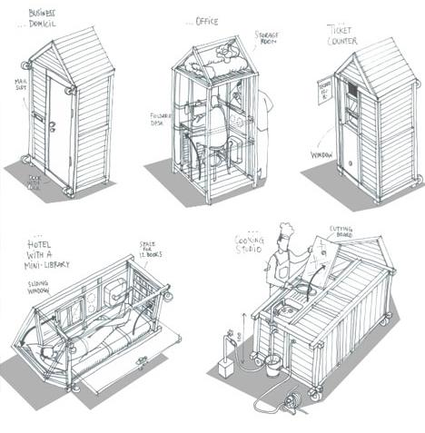 Une maison habitable d'1 m² ?