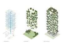 Intégration de la végétation sur le Bosco Verticale.