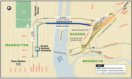 Carte du projet East Side Access