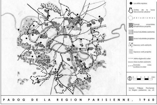 Carte du PADOG en 1960