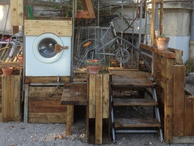 Vélo laveur - la machine à laver à activer par l'huile de genou !