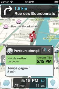 Optimisation de trajet Waze