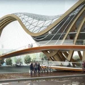 Mixed use Bridge - Amsterdam - Laurent Saint Val