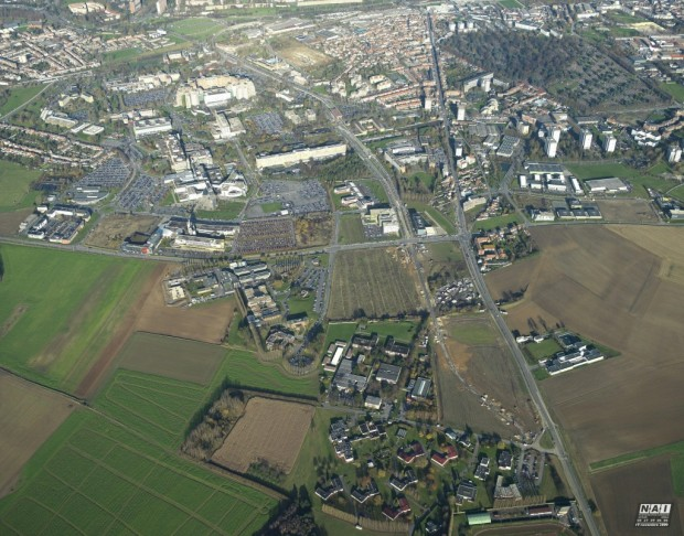 Vue aérienne d'Eurasanté (crédits photo : www.reseau-chu.org)