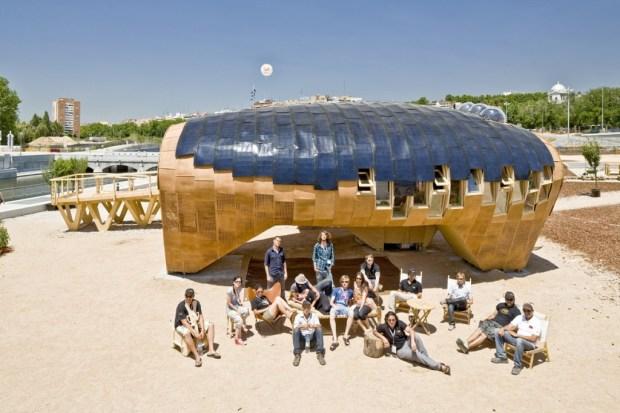 La Fab Lab House de Barcelone. Une icône de l'éco-construction et des possibilités offertes par les techniques de fabrication digitale (source: Flickr, CC)