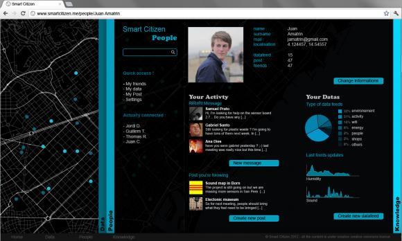 Le kit Smart Citizen et la plateforme contributive d'affichage des données (Flickr, CC)