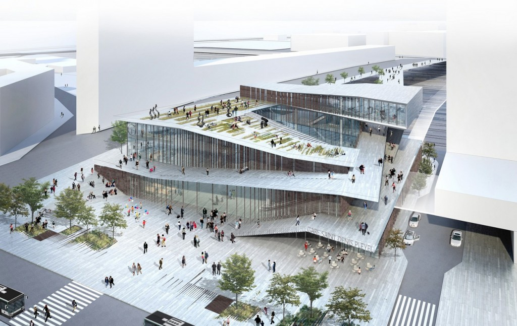 Saint-Denis Pleyel - Grand Paris Express © Kengo Kuma & Associates