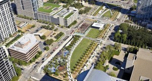 Klyde Warren Park Dallas © Aerial Photography, Inc