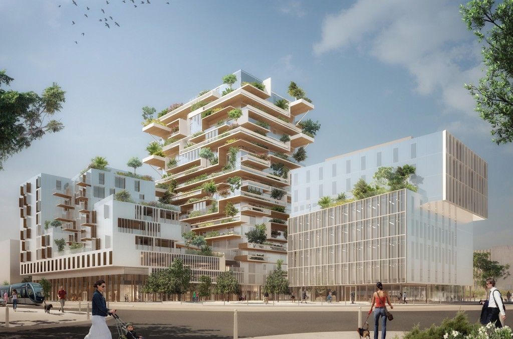 """Le projet immobilier """"Hyperion"""" / © Jean-Paul Viguier et Associés - Liraat Visuals"""