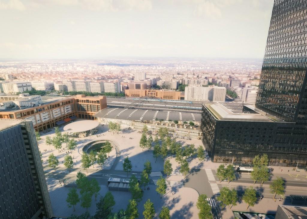 Le projet de la gare et son pôle d'échanges - © Archigraphi SPL Lyon Part-Dieu