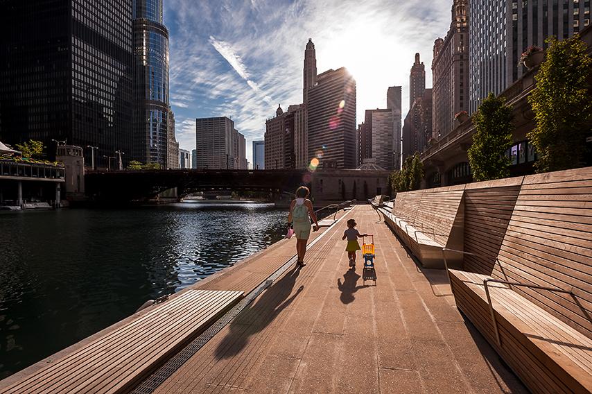 Chicago Riverwalk / Chicago Department of Transportation © Kate Joyce Studios ©Christian Phillips Photography