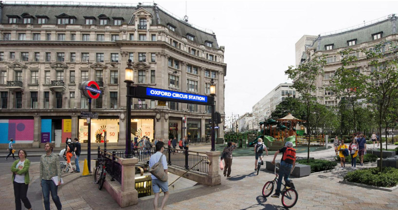 Oxfort Street - Vision piétonne - Walkable London - Zaha Hadid Architects