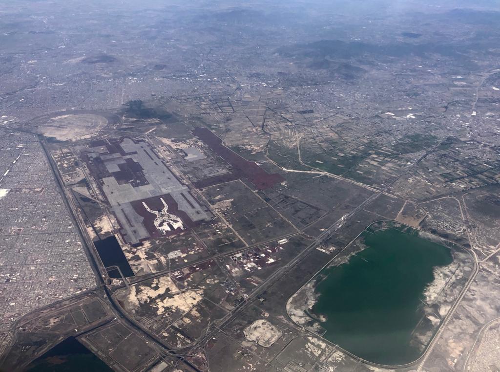 Le site initial du futur Aéroport International - Mexico