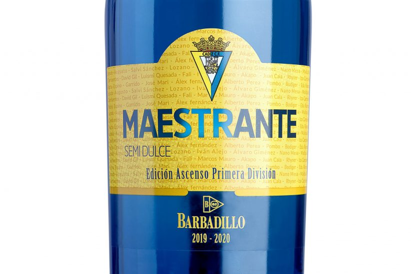Barbadillo celebra el ascenso del Cádiz con una edición limitada de Maestrante