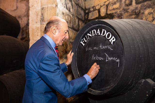 Beltrán Domecq, homenaje a una vida dedicada al vino de Jerez