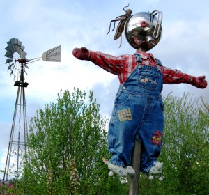 One of many scarecrows at Bradner.