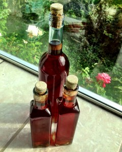 Finished plum wine.