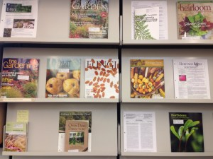 Just some of the available periodicals.