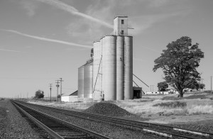 Grain silo outside of Odessa.