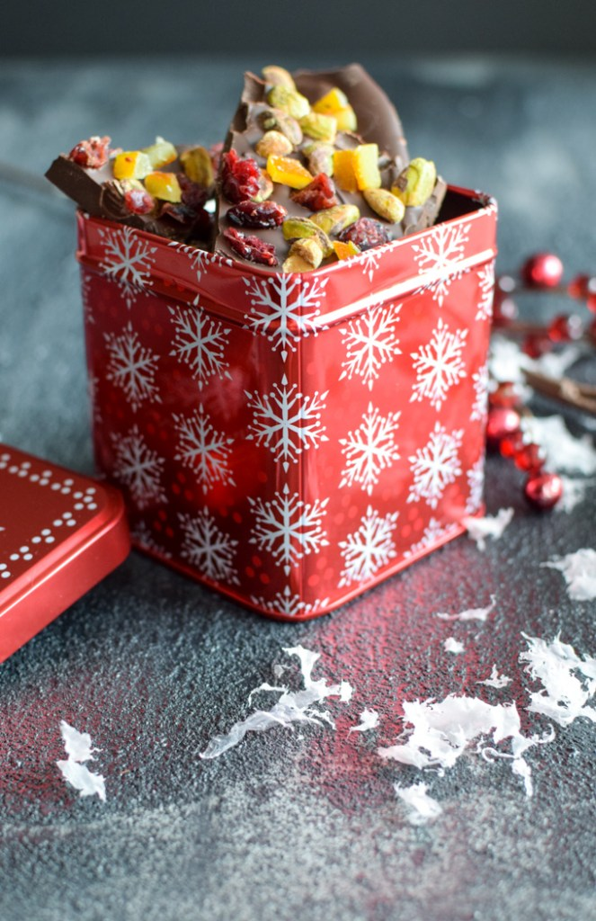 Dark Chocolate Bark Holiday Gift