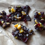 Dark Chocolate Bark with Candied Orange Peel