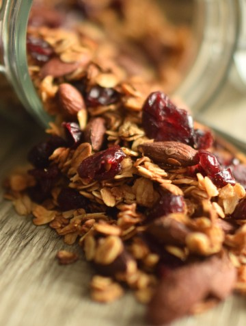 Honey Flax Granola:  A Healthy Homemade Granola