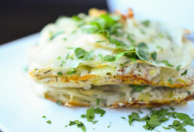 Potato, Leek & Pancetta Gratin