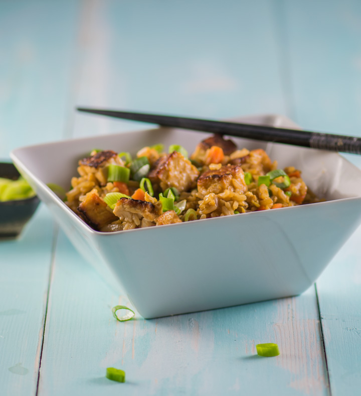 Ginger Tofu Fried Rice