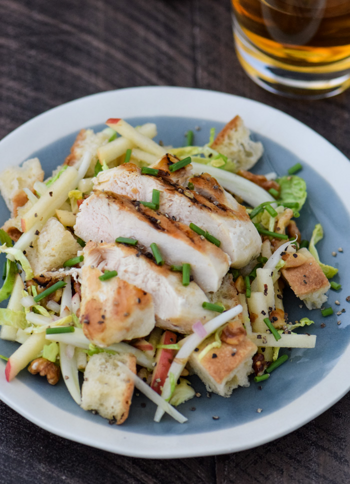 Cider Glazed Chicken with Panzanella Salad