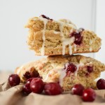 These glazed Orange Cranberry Scones are perfect for a Sunday brunch.