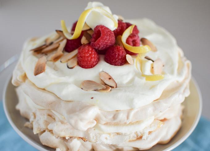 Meringue Torte with Lemon Cream