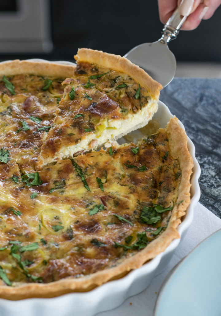 Leek & Pancetta Quiche Slice