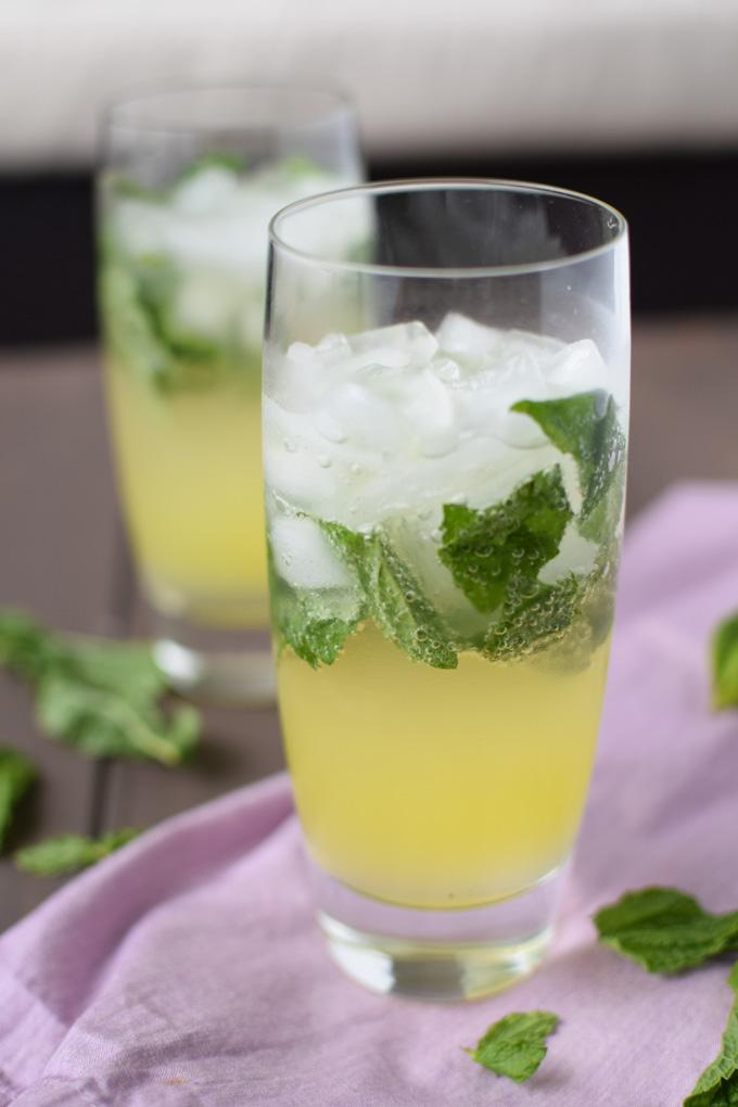 Ginger Mint Lemonade with Q Drinks Ginger Beer