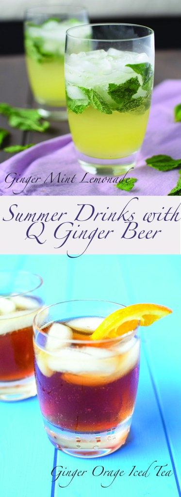Summer Drinks Featuring Q Drinks Ginger Beer