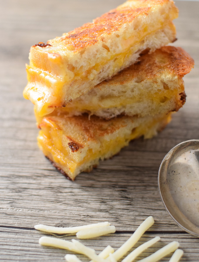 These Grilled Cheese Sticks are perfect for dipping into this easy tomato bisque