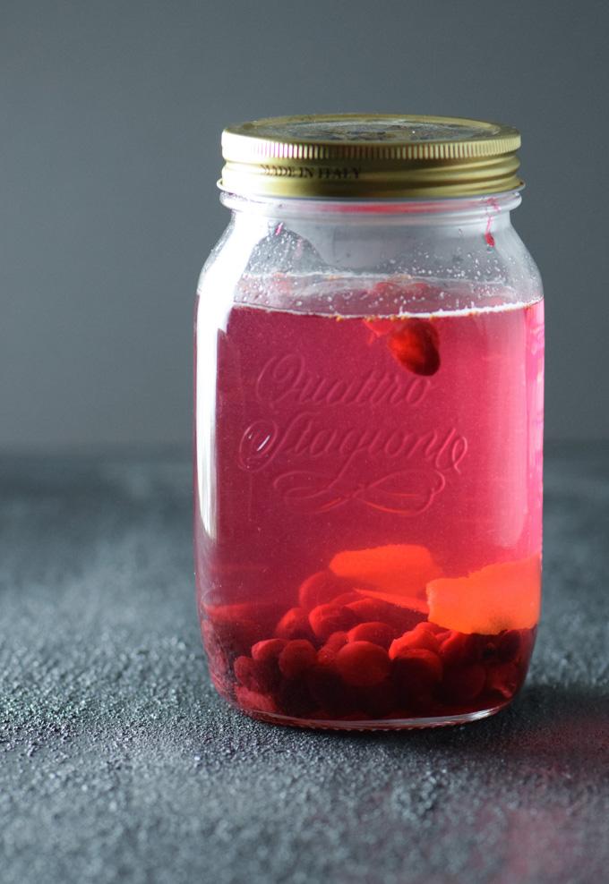 Cranberry Vodka Infusing